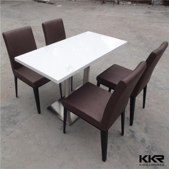 Customized Artificial Quartz Top Dining Table For Mcdonald