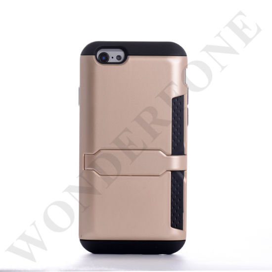 Two in One Mobile Phone Case with Stand for iPhone 6