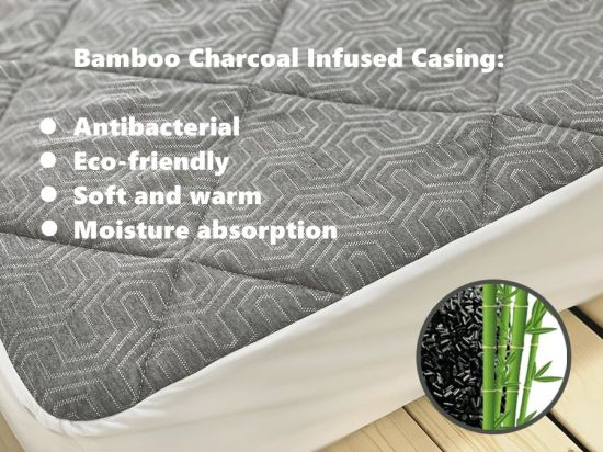 Bamboo Charcoal Infused Cotton Quilted Mattress Covers / Mattress Protectors