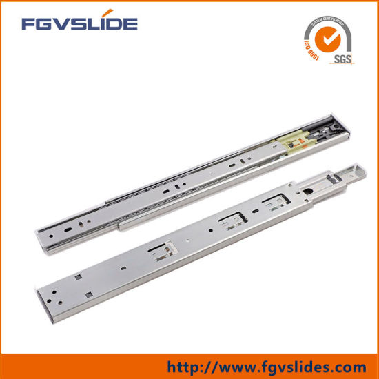 Zinc Plated Push to Open Cabinet Drawer Slides