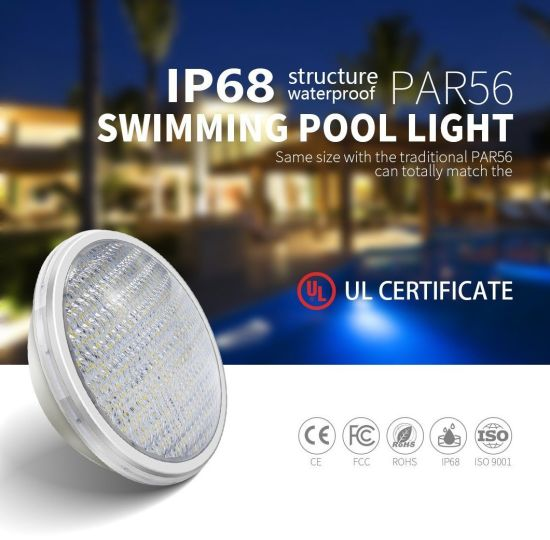 ABS Anti-UV Material 18W 12V IP68 2 Screws Terminal Waterproof Swimming Pool LED Light PAR56 Light