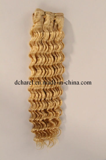 100% Natural Blond Color Human Hair Hair Extensions