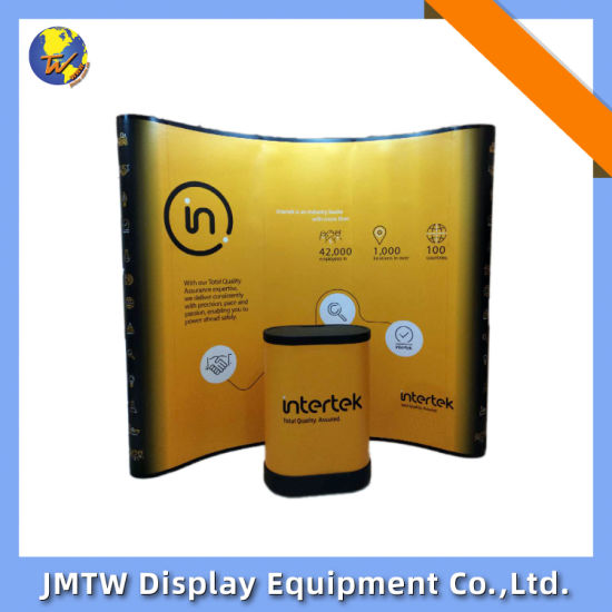 Aluminium Exhibition Stand Booth Stand for Exhibition with Curve Shape