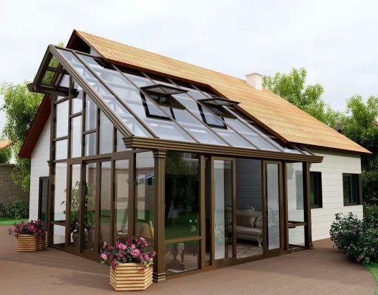 Prefabricate Aluminium Glass House/Sunroom/Green House/Conservatory Hurricane Proof