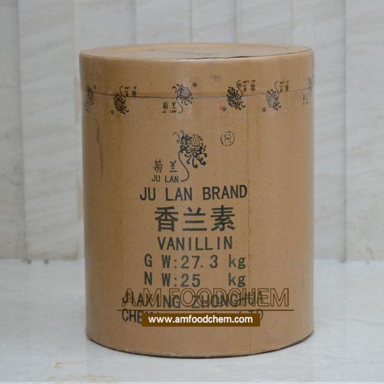 Natural Food Flavor Julan Vanillin Powder Food Grade Factoty Price in China