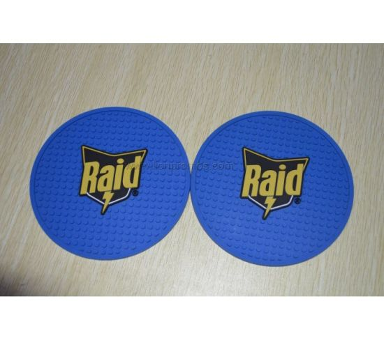 Custom Logo RAID Embossed PVC Cup Coaster pictures & photos