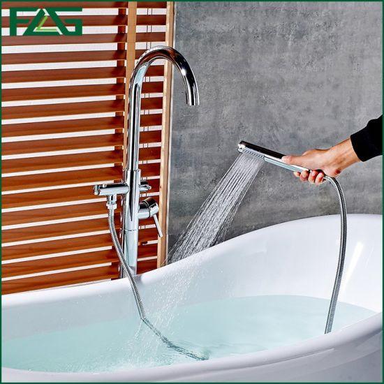 Flg Floor Standing Bathtub Faucet