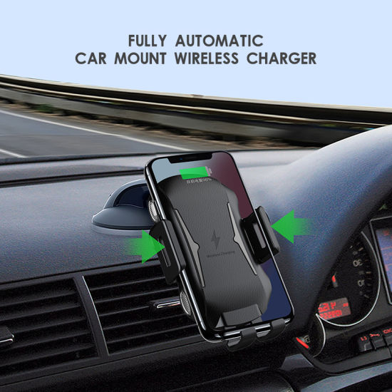 Dual-Way Car Accessories Mobile Holder Car Phone Holder with Wireless Charger