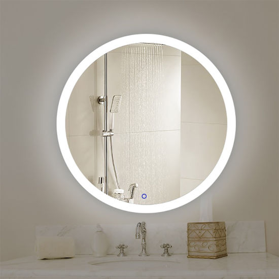 Hotel OEM Customized Size Round LED Bathroom Mirror China Manufacturer