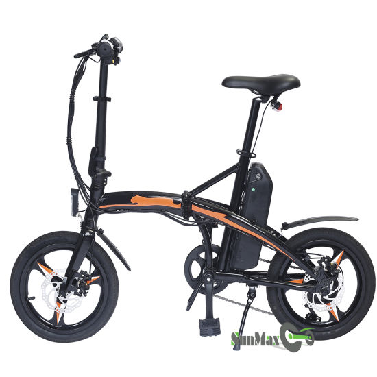 250W PAS Electric Bike with 16inch Tire Fold Bike Electric Motorcycle Ebike