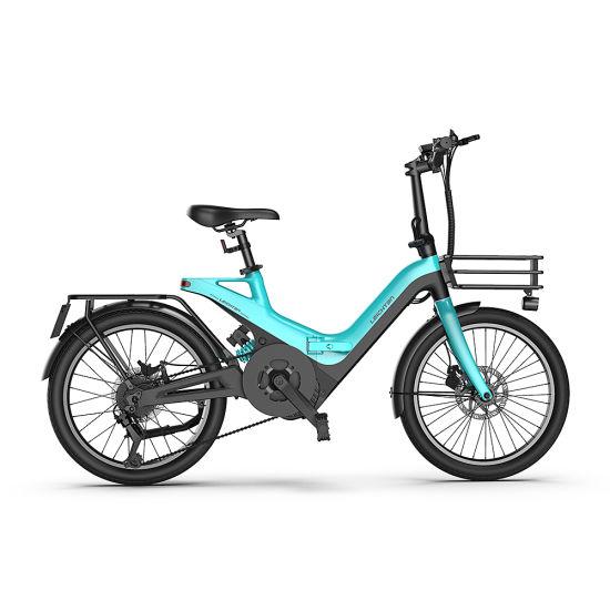 2022 New Design 250W/350W Rear-Driver Full Suspension Double Battery 36/9.6ah Foldable Ebike
