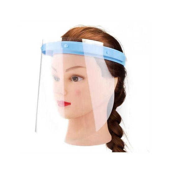 Plastic Adjustable Anti-Virus Face Shield, People Protection Disposable Face Shields, Anti-Fog Cook Plastic Transparent Face Shield Mask