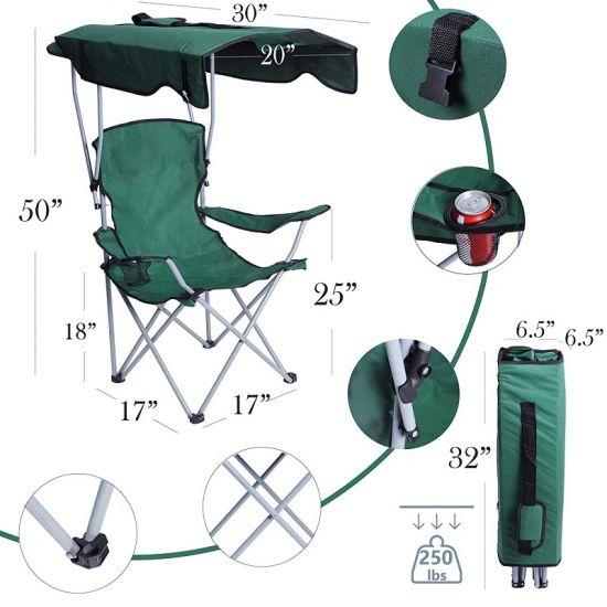 China Sun Umbrella Handrail Beach Chair