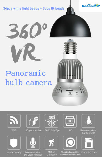 China 360 View Sd Card Ip Wifi Motion