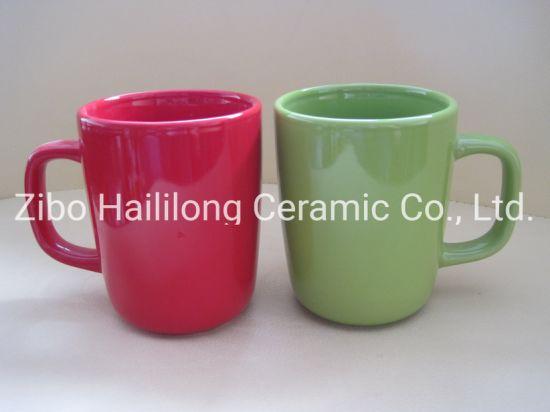 12 Oz Colored Ceramic Mug Glazed Cup