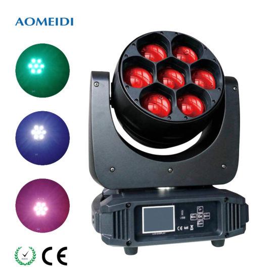 Stage Light 7X40W 70 Watt LED Wash Moving Head Zoom DJ Lighting