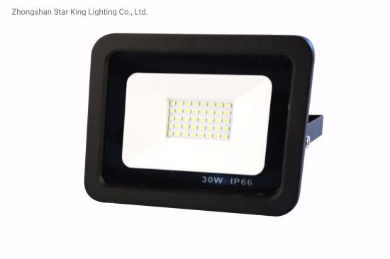 SMD 30W50W100W200W LED Flood Light with Black Housing for Outdoor Light