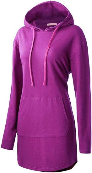 Six Colors Hooded Fleece for Woman Long Sleeve Round Neck
