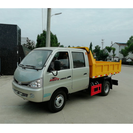 Beijing Auto 4X2 2 Ton Small Dump Truck for Sale with Double Cab