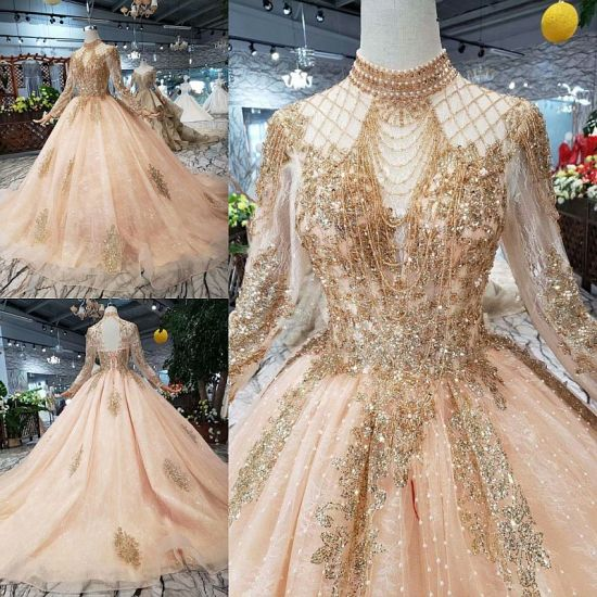 Satin Quinceanera Dress Long Sleeve Prom Party Formal Evening Ball Gown Custom
