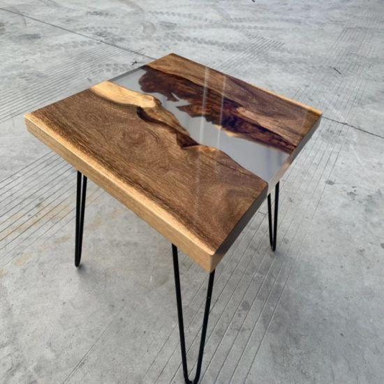 Live Edge Resin Inlay Top Epoxy Inlay Table Epoxy Resin Wood Table