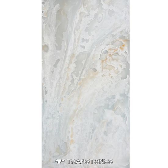 Artificial Onyx Alabaster Stone Sheets Wall Cladding Polished Alabaster