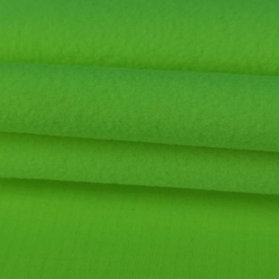 Waterproof Fluorescence Yellow Rip-Stop Polyester Bonded Polar Fleece Fabric pictures & photos