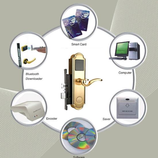 Security Magnetic Key Door Lock 13.56 MHz Card Hotel Lock