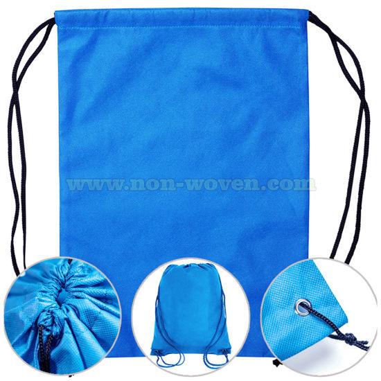Non Woven Drawstring Bag Backpack Gift Bag 22# Blue