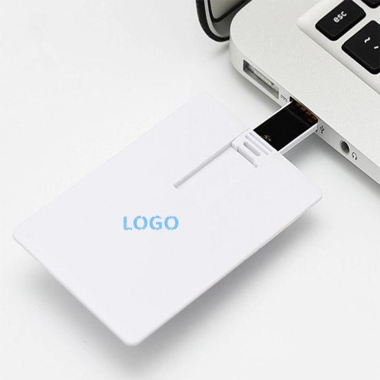 Paper Card USB 2.0 Pen Drive Printing Custom Design Logo 8GB 16GB 32GB Credit Card Shape USB 2.0 Flash Drive