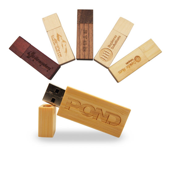 USB 2.0 Wooden Flash Drive Customize Logo Wedding Gifts Pen Drive Memory Stick (32GB 64GB 16GB 8GB 4GB, over 10PCS Free Logo) pictures & photos