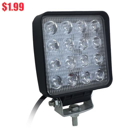 16 LEDs Automobile 48W LED Work Light 4 Inch 12V 24V for Cars Truck Work LED Light Working Lamp Lite