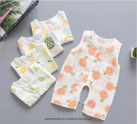 MOQ: 50PCS, Baby Cotton Muslin Romper Summer Rompers pictures & photos