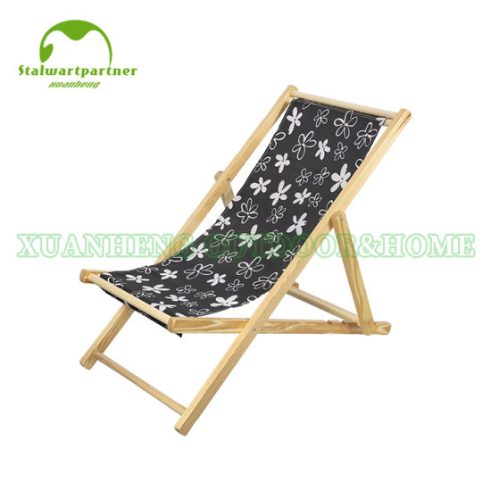 Pleasant China Folding Wood Beach Sling Deck Chair China Wooden Gmtry Best Dining Table And Chair Ideas Images Gmtryco