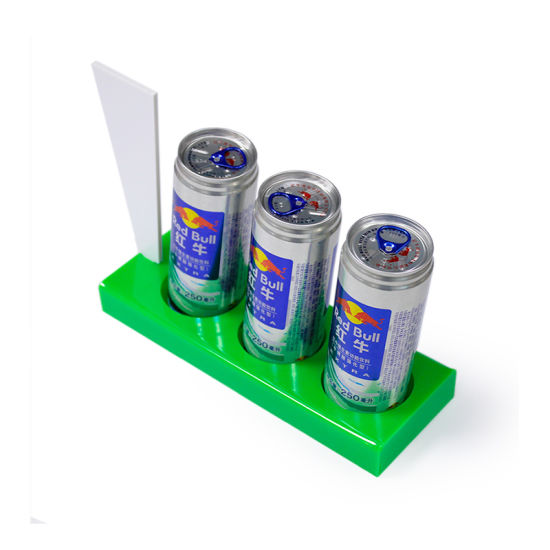 Custom Design Acrylic Drink Bottle Display Holder Stand Logo Printing