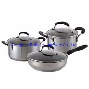 Stainless Steel Kitchenware Set with Spout for All Types of Plates with Silicone Handle
