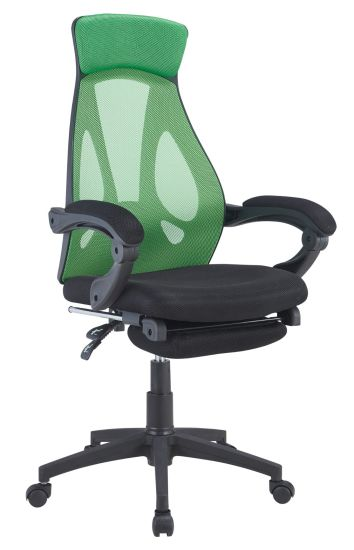 Green Mesh Comfortable Relax Special Backrest Office Chair With Pedal