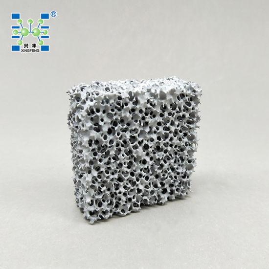 China Metal Filtration Silicon Carbide Ceramic Foam Filter