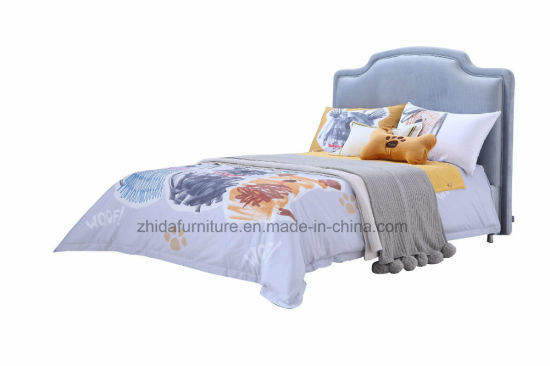 Modern Small Bed Kid Bed Single Bed Fabric Bed (ZB7004) pictures & photos
