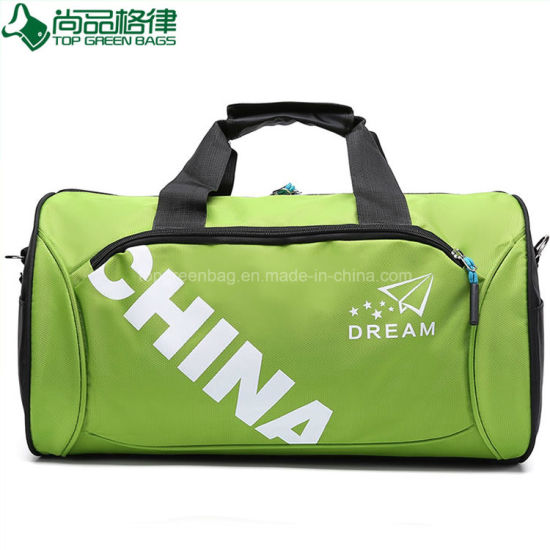 1d0fb3bd44ead4 China Promotional Polyester Round Sports Gym Duffle Travel Gear Bag ...