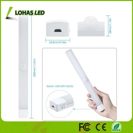 Stick On Closet LED Bar Light USB Motion Sensor LED Night Light