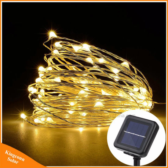 Solar String Lamp Fairy Light Christmas Lights 10m 100 Led Copper Wire Xmas Wedding Party Decor