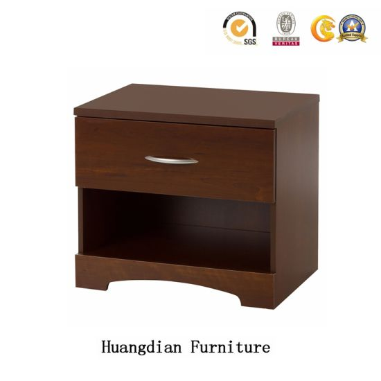 China Custom-Made Hotel Bedroom Furniture Bedside Table Wooden ...