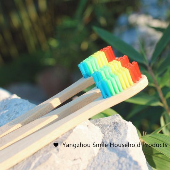 OEM environmental Soft Charcoal Bamboo Toothbrush