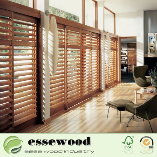 High quality home decorators interior window shutter wooden plantation shutter