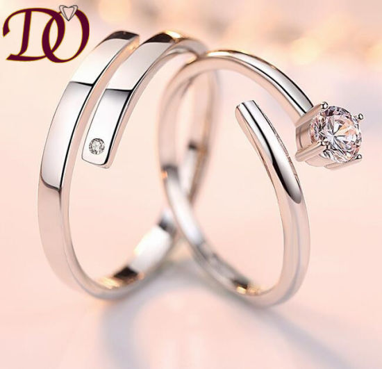 Rhodium Plated 925 Sterling Silver Ring Engagement Wedding Silver Jewelry pictures & photos