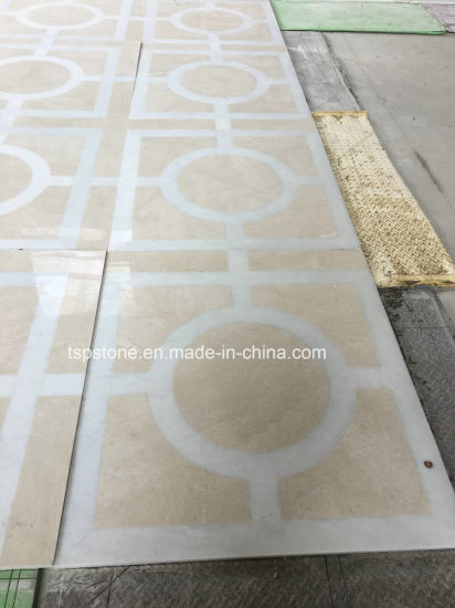 Waterjet Mosaic Pattern, Pattern Mosaic Border Medallion Floor Tiles with Metal Inlay pictures & photos