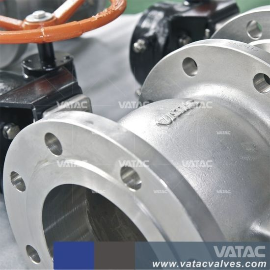 Pneumatic Cast Steel RF Flanged Segment Ball Valve pictures & photos