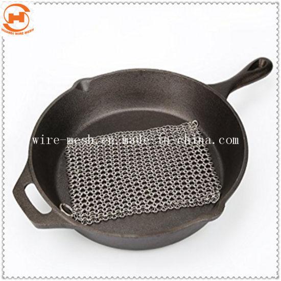 Chainmail Kitchen Cast Iron Pan Scrubber 8 X 8