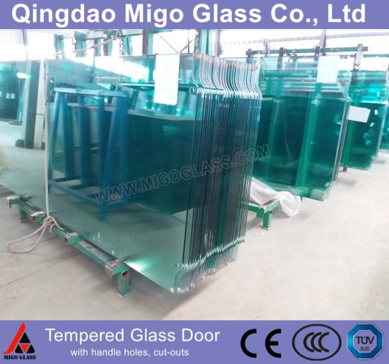 6mm 8mm 10mm 12mm Tempered Glass/Toughened Glass as Safety Glass for Door & Window